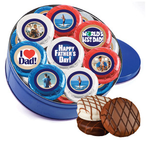 16 pc Fathers Day Chocolate Oreo Photo Cookie Tin