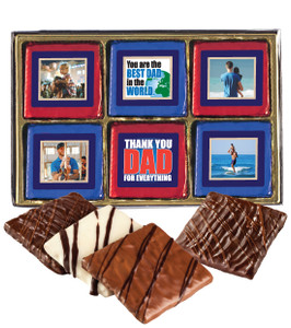 12 Pc Fathers Day  Chocolate Graham Photo Box