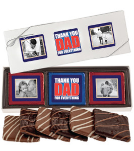 Father's Day 6pc Chocolate Graham Photo Box - B/W