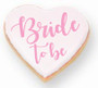Bride to be Heart Sugar Iced Butter Cookies - Special Order