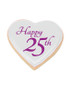 25th Heart Sugar Iced Butter Cookies