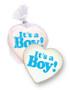 Baby Boy Heart Custom Sugar Iced Butter Cookies
