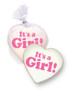 Baby Girl Heart Custom Sugar Iced Butter Cookie
