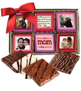 12pc Mother's Day Chocolate Graham Photo Box