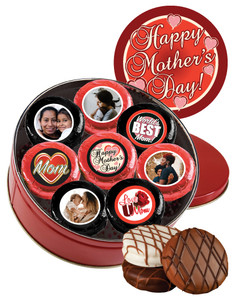 16pc Mother's Day Photo Chocolate Oreo Cookie Tin
