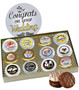 12pc Wedding Chocolate Oreo Custom Photo Cookie Box