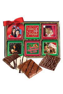 12pc Christmas Chocolate Graham Custom Photo Box