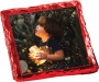 Christmas Chocolate Graham with Custom Photo - Red foil