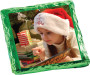Christmas Chocolate Graham with Custom Photo - Green foil