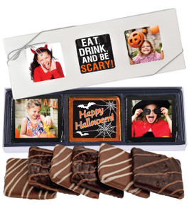 6pc Halloween Chocolate Graham Custom Photo Box