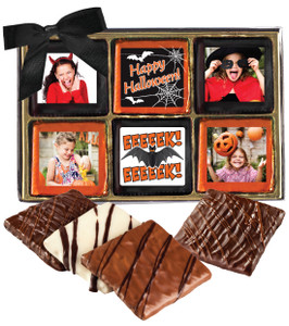 12pc Halloween Chocolate Graham Custom Photo Box