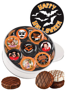16pc Halloween Chocolate Oreo Custom Photo Cookie Tin