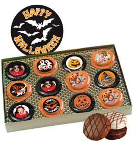 12pc Halloween Chocolate Oreo Custom Photo Cookie Box