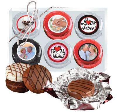 6pc Valentine's Day Chocolate Oreo Custom Photo Cookie Box