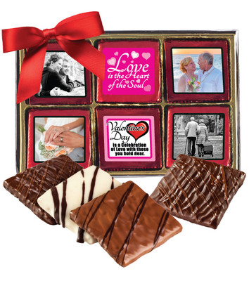12pc Valentine's Day Chocolate Graham Custom Photo Box