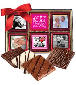 12pc Valentine's Day Chocolate Graham Custom Photo Box