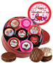16pc Valentine's Day Chocolate Oreo Custom Photo Cookie Tin