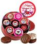 16pc Valentine's Day Chocolate Oreo Custom Photo Cookie Tin