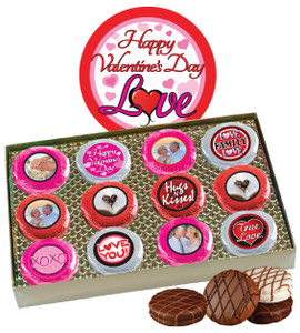 12pc Valentine's Day Chocolate Oreo Custom Photo Cookie Box