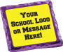 Back to School Chocolate Graham with Custom Text