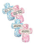 Cross Personalized Sugar Iced Butter Cookies - Pink or blue