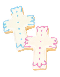 Cross Iced Sugar Butter Cookies - Pink & Blue Choice