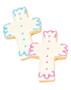 Cross Iced Sugar Butter Cookies - Pink & Blue Choice