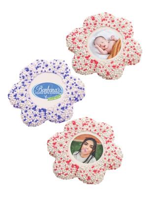Custom Daisy Sugar Iced Butter Cookies