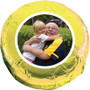 Grandpa Chocolate Oreo Custom Photo Cookie - yellow
