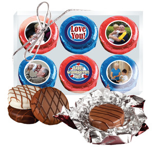 Grandpa Chocolate Oreo 6pc Custom Photo Cookie Box