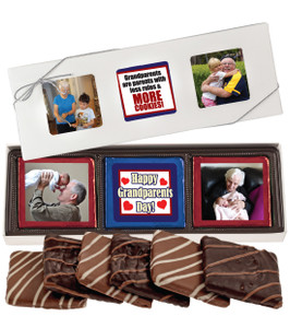Grandpa Chocolate Graham 6pc Custom Photo Box