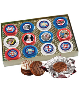 Grandpa Chocolate Oreo 12pc Custom Photo Cookie Box
