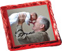 Grandpa Chocolate Graham 12pc Custom Photo Box - red