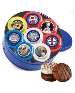 Grandpa Chocolate Oreo 16pc Custom Photo Cookie Tin