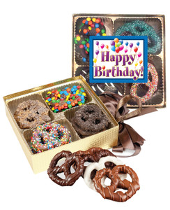 Birthday Chocolate Covered 16pc Pretzel Gift Box