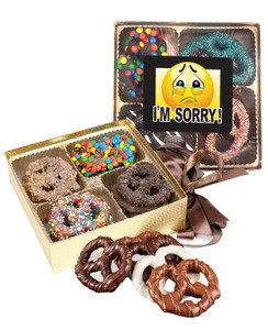 I'm Sorry Chocolate Covered 16pc Pretzel Gift Box