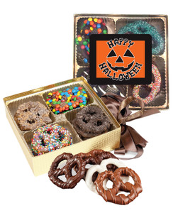 Halloween Chocolate Covered 16pc Pretzel Gift Box
