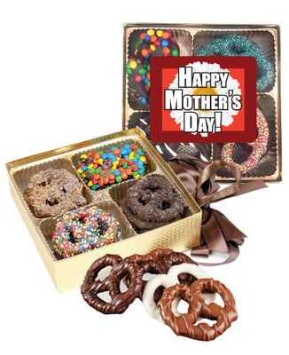 Mothers Day Chocolate Covered 16pc Pretzel Gift Box
