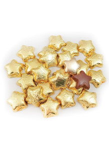 Solid Milk Chocolate Gold Stars