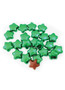 Solid Milk Chocolate Emerald Green Stars