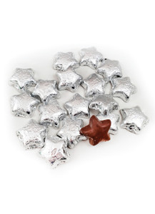 Solid Milk Chocolate Silver Stars
