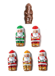 Solid Milk Chocolate Santa