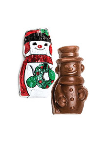 Solid Milk Chocolate Mini Snowman