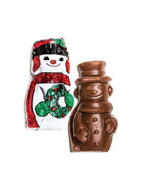 Solid Milk Chocolate Mini Snowman