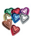 Foiled Solid Milk Chocolate Hearts Assorted Colors