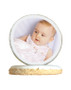 Baby Girl Photo Sugar Iced Butter Cookie - Circle