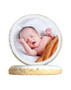 Baby Boy Photo Sugar Iced Butter Cookie - Circle