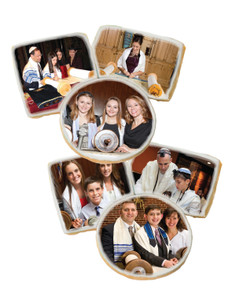 Bar/Bat Mitzvah Photo Sugar Iced Butter Cookies