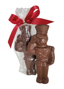 Solid Chocolate Soldier Wrapped
