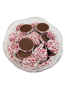 Milk Chocolate Nonpareils - Red & White